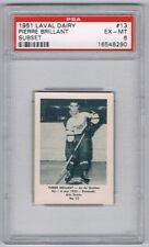1952 Laval Dairy Subset Hockey Card Quebec Aces #13 Pierre Brillant Graded PSA 6