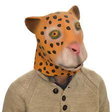 Latex Full Head Overhead Goofy Leopard Funny Animal Cosplay Halloween Fancy Mask