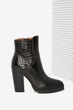 Jeffrey Campbell Impress Leather Boots size 9.5 black