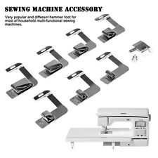 8Pcs Sewing Machine Rolled Hammer Foot Presser Foot Spare Parts Accessories Set