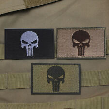 3 PCS PUNISHER SKULL SWAT OPS ARMY MILITARY TACTICAL MORALE BADGE PATCH