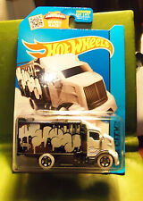 Hot Wheels HiWAY Hauler 2 Super Cool White Graphiti Box Moving Semi Truck HTF