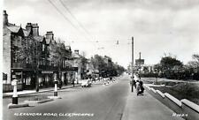 Alexandra Road Cleethorpes unused RP old postcard by Valentines 1939 Good Cond