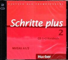 Hueber SCHRITTE PLUS 2 CD's zum Kursbuch Niveau A1/2 @NEW@