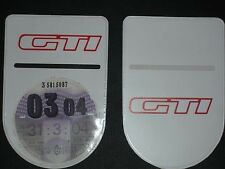 PEUGEOT 205 GTI 1.9 TAX DISC HOLDER - Self-Adhesive with Double Sided Logo!