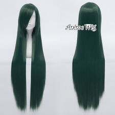 Green 80cm Straight Long Anime Cosplay Wig Women Girls Lolita Style + Cap