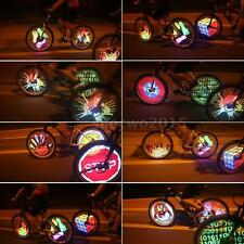 Programmable 128 LED Flash Spoke Light Tyre Tire Wheel For Cycling Bicycle Bike