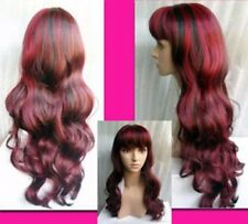 ZWJF75  New Style Long curly red mixed black lady's hair Wigwigs for women