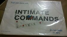 Vintage INTIMATE COMMANDS Board Game Adult Couples Erotic Party Sex Complete