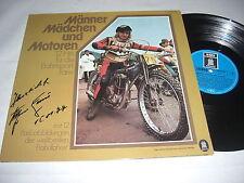 (5166) Männer Mädchen und Motoren - 12 Hits für Bahnsport - Signiert - 1974