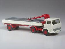 TOP: Wiking Sondermodell Magirus Deutz Baustoffwagen mit Stahlträgern perlweiß