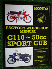HONDA 50cc C110 SPORTS CUB MOTORCYCLE FACTORY WORKSHOP MANUAL 1962-1969