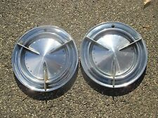 lot of 2 1960 Pontiac Catalina Bonneville spinner hubcaps wheel covers