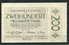 Wandsbek 200 Milliarden Mark vom 6.11.1923