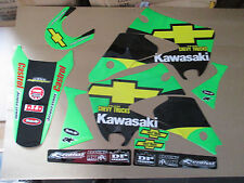 TEAM KAWASAKI CHEVY TRUCKS GRAPHICS KX125 KX250 2003  2004 2005 2006 2007 2008