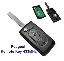 Fits to PEUGEOT 207 307 308 308 SW 407 3  Button Remote Key FOB  433MHz