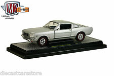 M2 1966 FORD MUSTANG 2+2 GT FASTBACK SILVER FROST 1/24 DIECAST 40300-49D