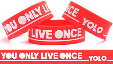 YOLO You Only Live Once RED WRISTBAND Concert Bracelet Free Shipping Brand New