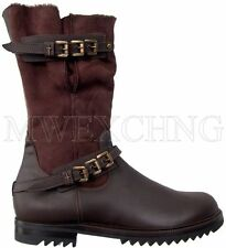 CESARE PACIOTTI SHEARLING BOOTS SHOES US 12 ITALIAN DESIGNER MENS SHOES