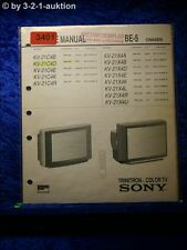 Sony Service Manual KV 21C4D / 21X4D /A /B /E /K /U Color TV (#3401)
