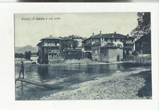 78737 antica cartolina di lierna il castello e il porto lago di como pescatore