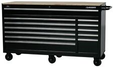 Tool Chest Rolling Workbench 12-Drawer Heavy-Duty Mobile Black 66 in. W 24 in. D