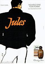 PUBLICITE ADVERTISING 125  1980  Jules eau de toilette homme par René Gruau Dior
