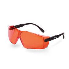 Safety stylish Orange Glasses spectacles Lens UV400 CE dental curing blue light