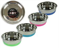 Puppy Dog Pet Stainless Steel Low Height Bowl Removable anti-skid silicone base