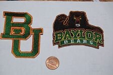 Baylor Bears Logo Patches College 2 Patch Lot
