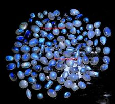 150 CT WHOLESALE LOT NATURAL BLUE MOONSTONE CALIBRATED MIX CABOCHON HOT GEMSTONE