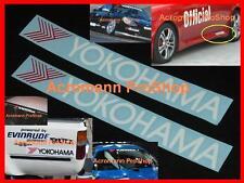 """2x 8.5"""" 21.6cm YOKOHAMA decal sticker advan sport tire tyre d1 drift WTCC vinyl"""