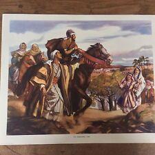 c1950 Vintage Enid Blyton Bible Picture Poster The noblemans son