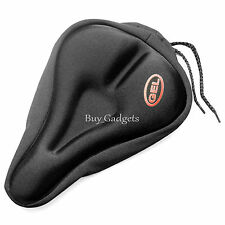 GEL SEAT SADDLE COVER BIKE BICYCLE CYCLE CYCLING MTB HYBRID BIKING PADDING PAD