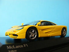 McLaren F1 in Yellow . A  McLaren  marketed product. rare  Minichamp 1:43 NLA