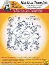 Lil' Leaguers #3804 Aunt Martha's Hot Iron Embroidery Transfer Pattern