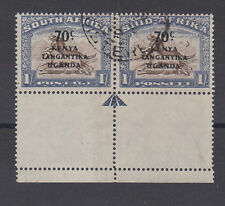 K.U.T.1941 70c ON 1/- WITH 'CRESCENT MOON FLAW' SG 154a FINE USED.