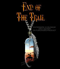 "SUNDOWN END OF TRAIL NECKLACE for MALE or FEMALE  JEWELRY ART GIFT SALE 24"" Ch*"