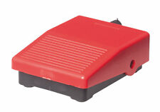 Mini Fußschalter schwarz/rot, Pedaltaster, Pedalschalter, 3A, 1Ö+1S, NEU+OVP