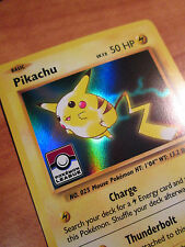 LEAGUE Pokemon PIKACHU Card BLACK STAR Promo Set XY202 Ultra Rare Holo Stamped