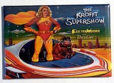"""Vintage KROFFT SUPERSHOW ELECTRA WOMAN DYNA GIRL Lunchbox 2"""" x 3"""" Fridge MAGNET"""