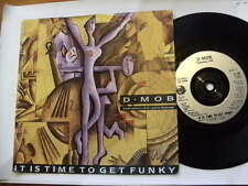 D MOB,D.C.SAROME1989 ITS TIME TO GET FUNKY TRANCE DANCE 45RP 7ins RECORD JUKEBOX