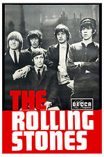 Mick Jagger & The Rolling Stones Decca Group Photo Promotional Poster 1965 13x19