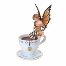 6.25 Inch Warm Toes Fairy in Tea Cup Mystical Statue Figurine