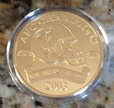 HIGHLAND MINT NEW ENGLAND PATRIOTS 2003 AFC CHAMPIONS GOLD COIN