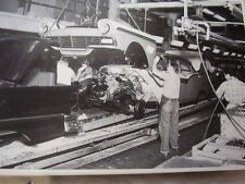 1957 FORD ASSEMBLY LINE  FRONT END GOING ON  12 X 18  LARGE PICTURE  PHOTO