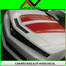 Camaro Mail Slot Nose Decal Slot decals Mailslot Matte Black 2010 2011 2012 2013