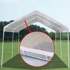 14 mil HD Valance Replacement Canopy Tarp Carport Cover for 10 X 20 Frame- Clear