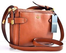 RALPH LAUREN POLO Women CRAWLEY CROSSBODY Messenger Travel BAG COGNAC LEATHER