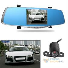 "1080P FHD 5""  Dual Lens Video Recorder Dash Cam Rearview Mirror Camera Car DVR"